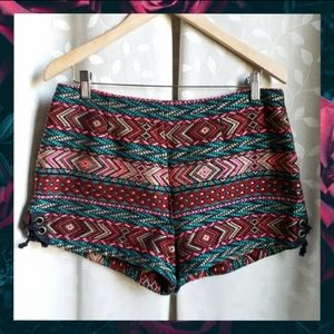 Urban Outftters Ecote Tribal Boho Tapestry Shorts
